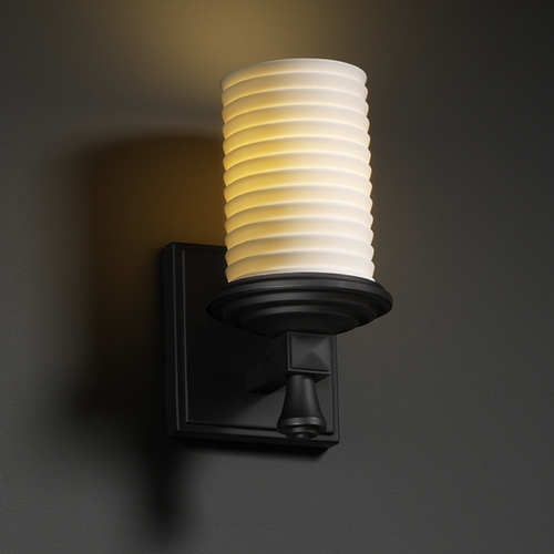 Justice Design Group Justice Design Group Limoges Collection Sconce POR-8531-10-SAWT-MBLK