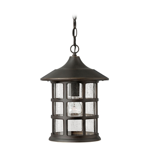 Hinkley Lighting Outdoor Hanging Light with Clear Glass in Oil Rubbed Bronze Finish 1802OZ-GU24