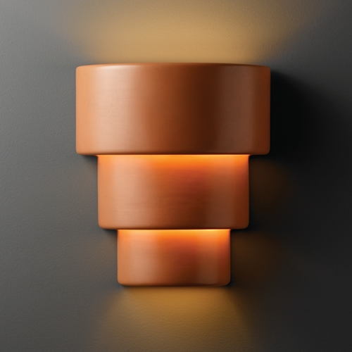 Justice Design Group Outdoor Wall Light in Terra Cotta Finish CER-2235W-TERA