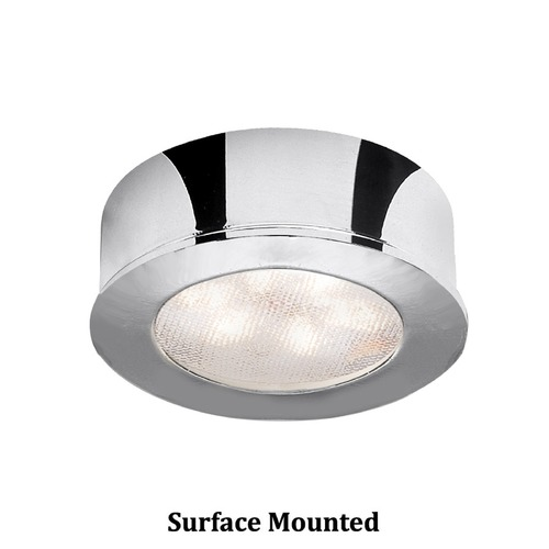 WAC Lighting WAC Lighting LED Button Light Chrome 2.25-Inch LED Under Cabinet Puck Light HR-LED87-CH