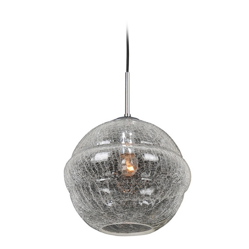 Kalco Lighting Kalco Lighting Celine Chrome Pendant Light with Globe Shade 7575CH