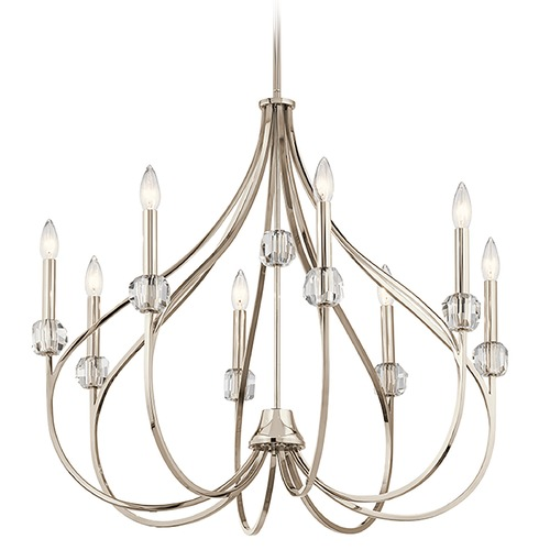 Kichler Lighting Kichler Lighting Eloise Polished Nickel Chandelier 43721PN