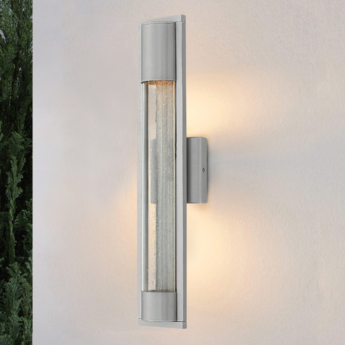 Hinkley Seeded Glass Outdoor Wall Light Titanium Hinkley 1224TT