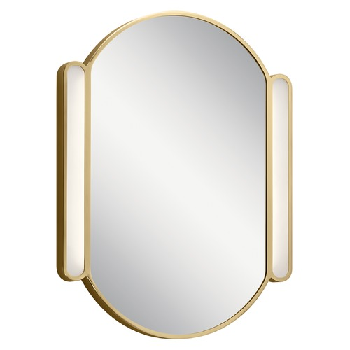 Elan Lighting Sorno LED Illuminated Mirror with Champagne Gold Accents 3000K 575LM 84165CG
