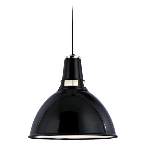 Hudson Valley Lighting Modern Pendant Light in Black Polished Nickel Finish 6820-BPN
