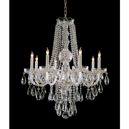 Crystorama Lighting Crystal Chandelier in Polished Chrome Finish 1108-CH-CL-SAQ