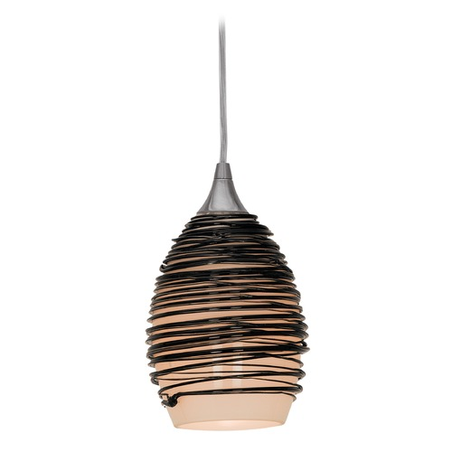 Access Lighting Adele Black Glass Mini-Pendant 23733-BS/BLK
