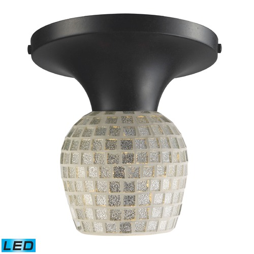 Elk Lighting Elk Lighting Celina Dark Rust LED Semi-Flushmount Light 10152/1DR-SLV-LED