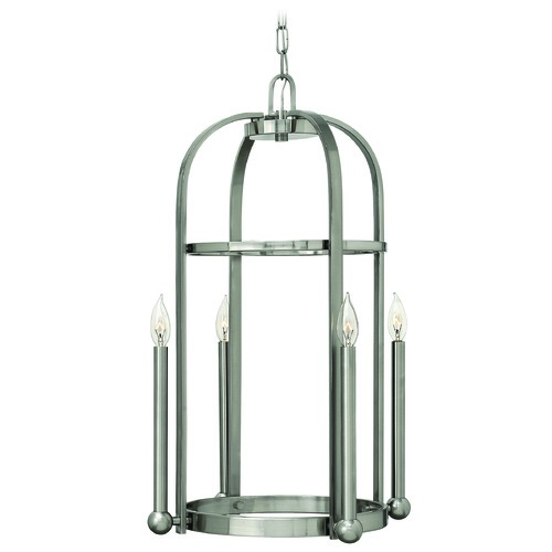 Hinkley Lighting Pendant Light in Brushed Nickel Finish 3014BN