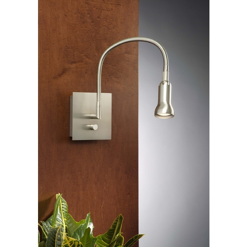 Holtkoetter Lighting Holtkoetter Modern Wall Lamp in Satin Nickel Finish 6265 SN