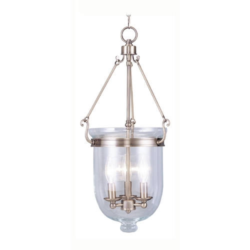 Livex Lighting Livex Lighting Jefferson Antique Brass Pendant Light with Bowl / Dome Shade 5064-01