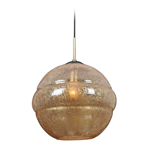 Kalco Lighting Kalco Lighting Celine Chemical Bronze Pendant Light with Globe Shade 7576CB