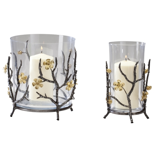 Cyan Design Cyan Design Botanica Raw Steel & Gold Candle Holder 04354