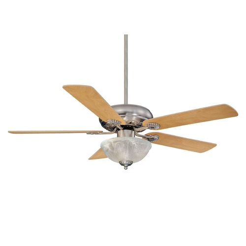 Savoy House Savoy House Satin Nickel Ceiling Fan with Light 52-411-5RV-SN