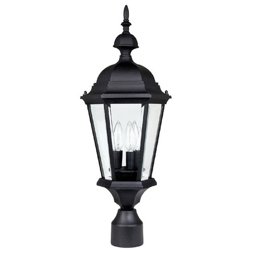 Capital Lighting Capital Lighting Carraige House Black Post Light 9725BK