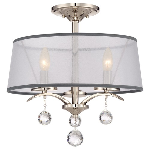 Quoizel Lighting Quoizel Whitney Imperial Silver Semi-Flushmount Light WHI1716IS