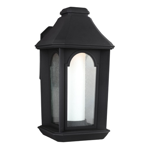 Feiss Lighting Seeded Glass LED Outdoor Wall Light Black Feiss Lighting OL11503TXB-LED