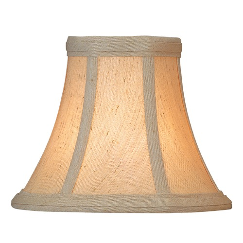 Lite Source Lighting Beige Bell Lamp Shade with Clip-On Assembly CH511-6