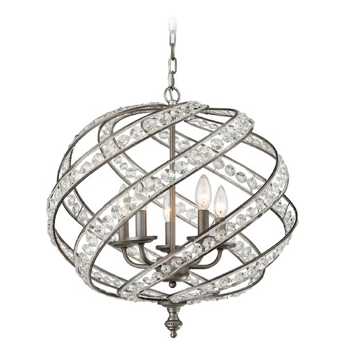 Elk Lighting Elk Lighting Renaissance Weathered Zinc Pendant Light 16253/5