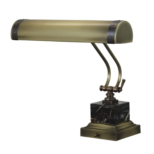 House of Troy Lighting House of Troy Steamer Antique Brass with Mahogany Bronze Accents Piano / Banker Lamp P14-290-ABMB