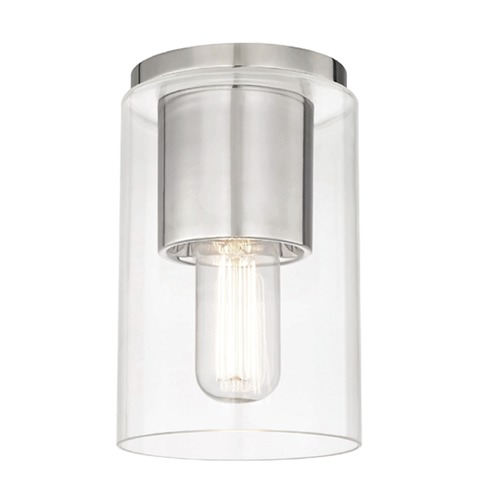Hudson Valley Lighting Mid-Century Modern Flushmount Light Polished Nickel Mitzi Lula by Hudson Valley H135501-PN