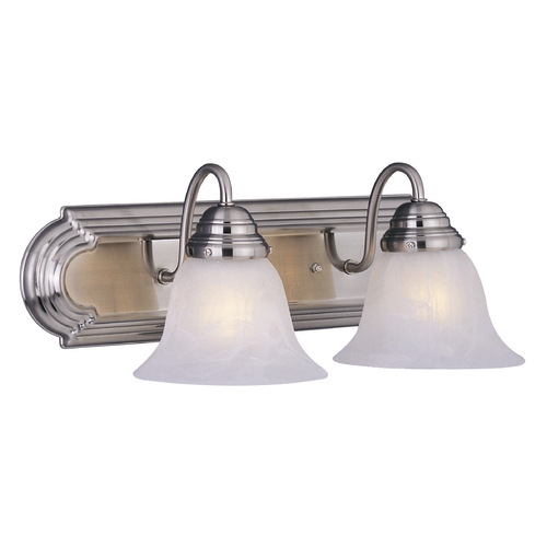Maxim Lighting Maxim Lighting Essentials Satin Nickel Bathroom Light 8012MRSN