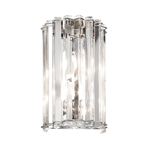 Kichler Lighting Kichler Modern Sconce Wall Light with Clear Shades in Chrome Finish 42175CH