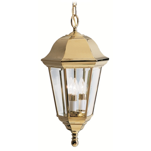 Kichler Lighting Kichler Outdoor Hanging Light in Brass Finish 9889PB