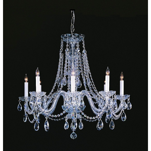 Crystorama Lighting Crystal Chandelier in Polished Chrome Finish 1138-CH-CL-MWP