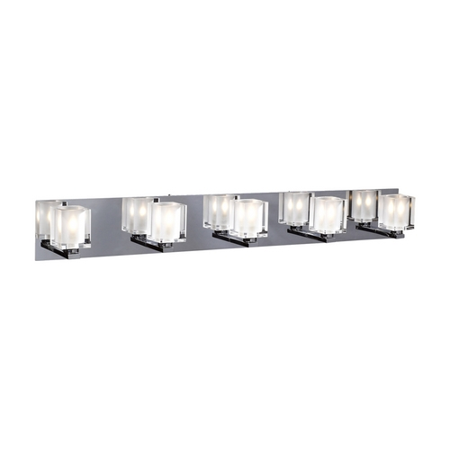 PLC Lighting Modern Bathroom Light with Clear Glass in Polished Chrome Finish 3485 PC