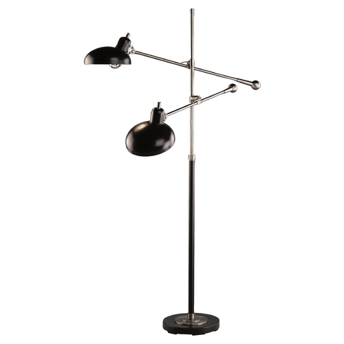 Robert Abbey Lighting Mid-Century Modern Floor Lamp Bronze / Nickel Bruno Lead by Robert Abbey 1848