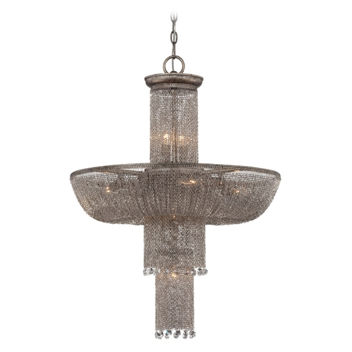 Metropolitan Lighting Chandelier in Antique Silver Finish N7208-578