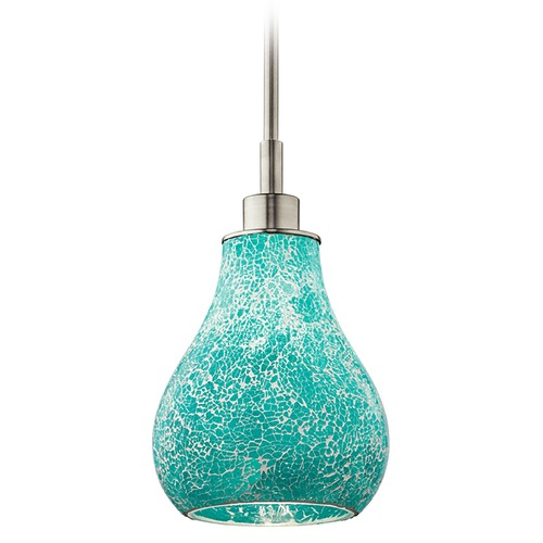 Kichler Lighting Kichler Lighting Crystal Ball Brushed Nickel Mini-Pendant Light 65408