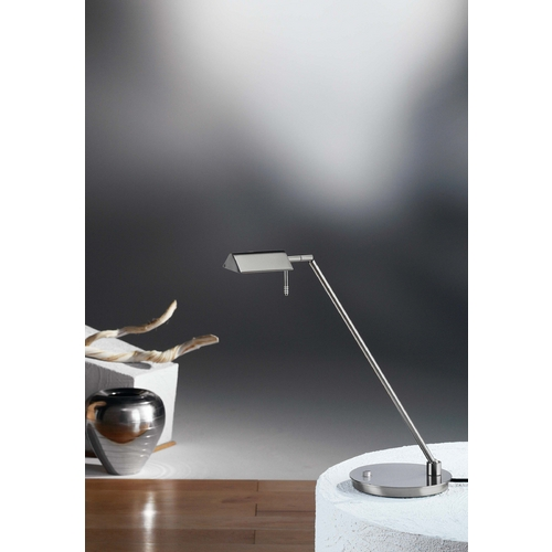 Holtkoetter Lighting Holtkoetter Modern Swing Arm Lamp in Satin Nickel Finish 6444 SN