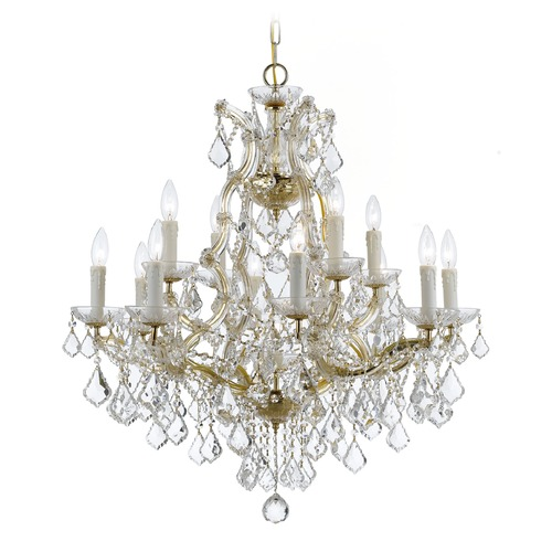 Crystorama Lighting Crystorama Lighting Maria Theresa Gold Crystal Chandelier 4412-GD-CL-S