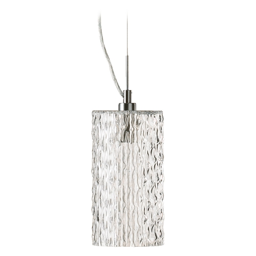 Quorum Lighting Quorum Lighting Satin Nickel Mini-Pendant Light with Cylindrical Shade 825-65