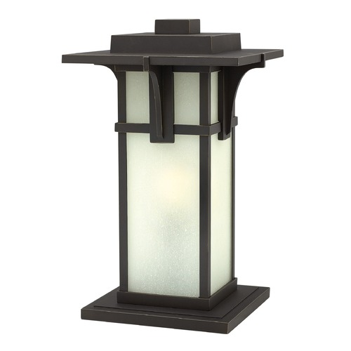 Hinkley Lighting Etched Seeded Glass Pier Mount Light Oil Rubbed Bronze 2237OZ