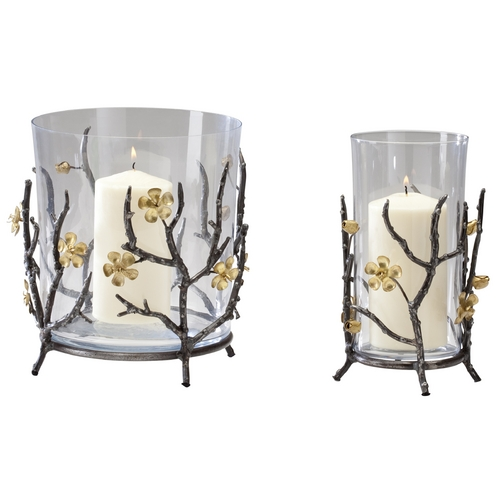Cyan Design Cyan Design Botanica Raw Steel & Gold Candle Holder 04355