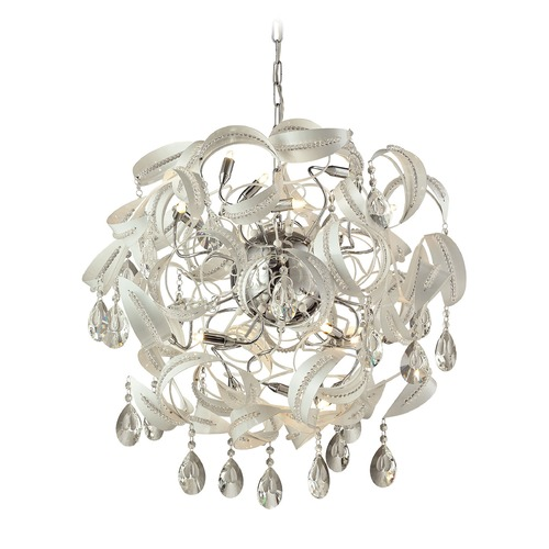 Elk Lighting Elk Lighting Zebula White Pendant Light 31546/18