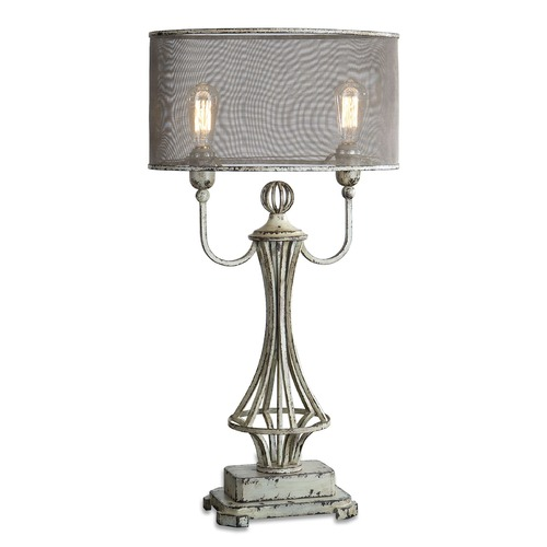 Uttermost Lighting Uttermost Pontoise Aged Ivory Table Lamp 27008-1