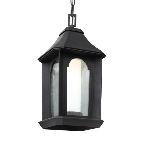 Feiss Lighting Feiss Lighting Ellerbee Textured Black LED Outdoor Hanging Light OL11509TXB-LED