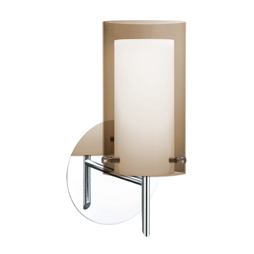 Besa Lighting Besa Lighting Pahu Chrome Sconce 1SW-S44007-CR