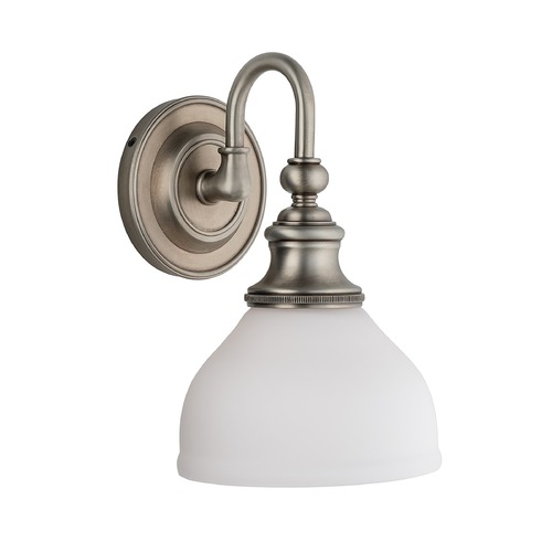 Hudson Valley Lighting Sconce with White Glass in Antique Nickel Finish 5901-AN