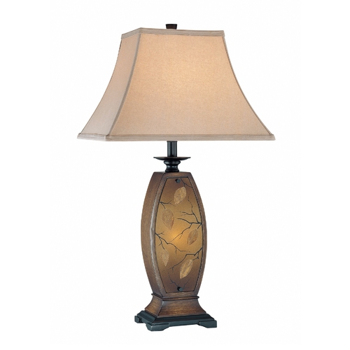 Lite Source Lighting Table Lamp with Beige / Cream Shade in Antique Gold Finish C41160