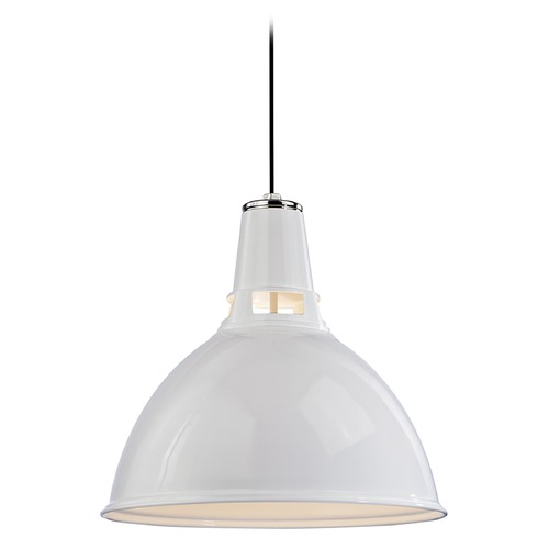 Hudson Valley Lighting Modern Pendant Light in White Polished Nickel Finish 6820-WPN