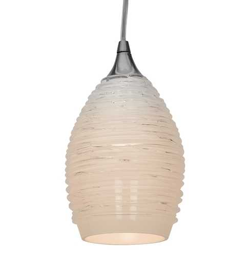 Access Lighting Adele White Glass Mini-Pendant 23733-BS/WHT