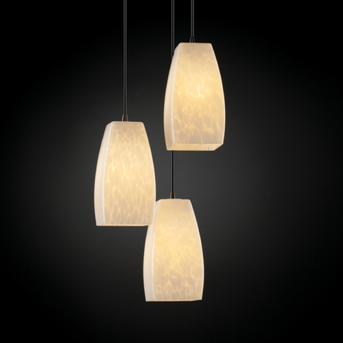 Justice Design Group Justice Design Group Fusion Collection Multi-Light Pendant FSN-8864-65-DROP-DBRZ