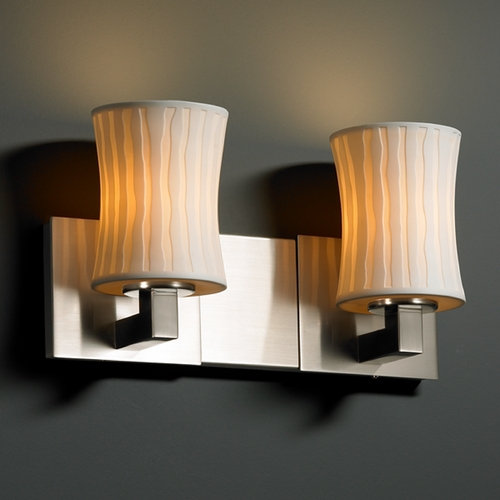Justice Design Group Justice Design Group Limoges Collection Bathroom Light POR-8922-60-WFAL-NCKL