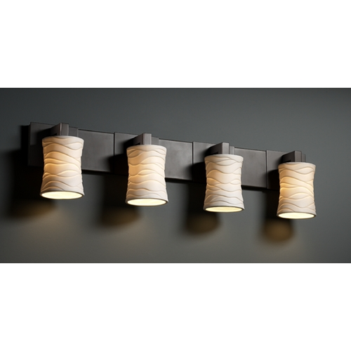 Justice Design Group Justice Design Group Limoges Collection Bathroom Light POR-8924-60-WAVE-DBRZ