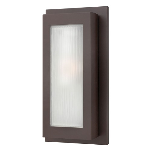 Hinkley Modern Outdoor Wall Light with White Glass in Buckeye Bronze Finish 2054KZ